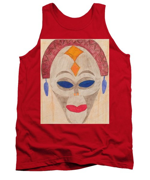 African Mask Tank Top