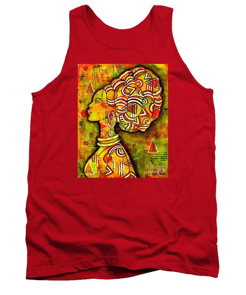 African Queen Tank Top by Julie Hoyle