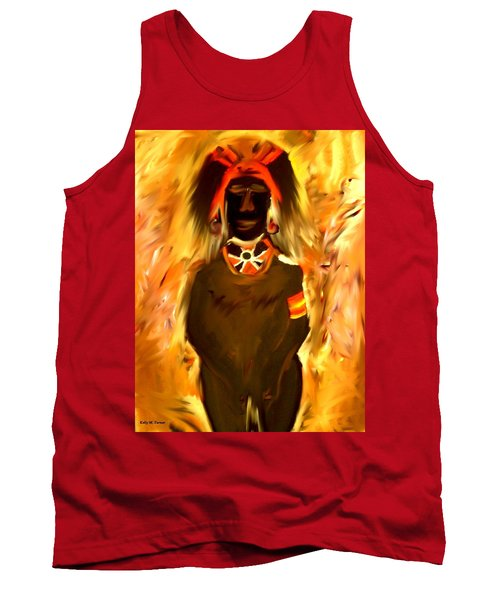 African Warrior Tank Top by Kelly Turner