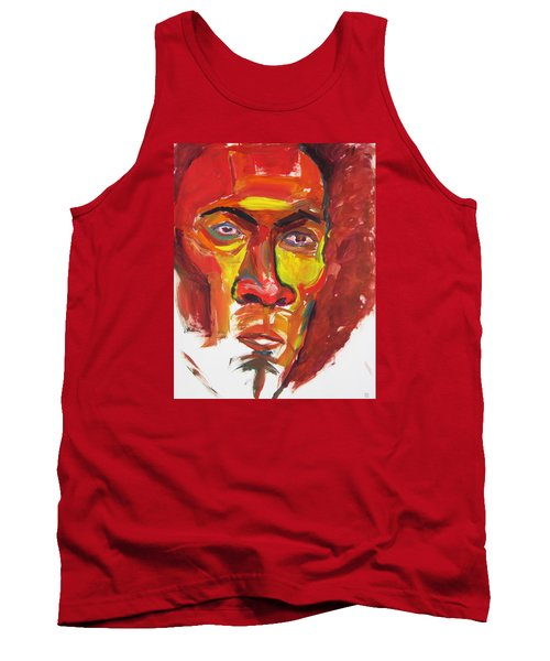 Tank Top featuring the painting Afro by Shungaboy X