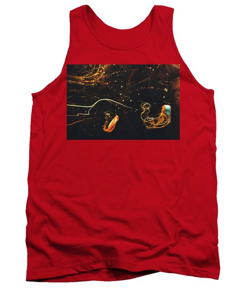After Midnight - Abstract Photography - Paint Pouring Art Tank Top