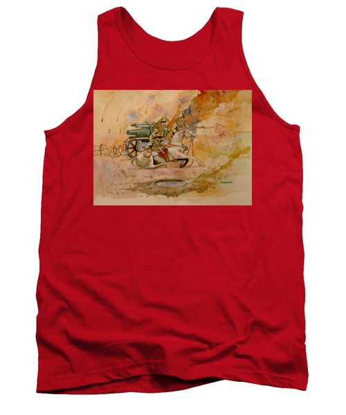 Tank Top featuring the painting After The Charge by Ray Agius