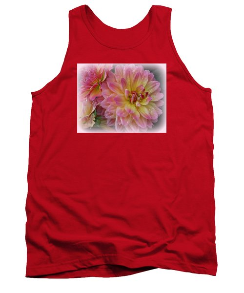 After The Rain - Dahlias Tank Top by Dora Sofia Caputo Photographic Art and Design