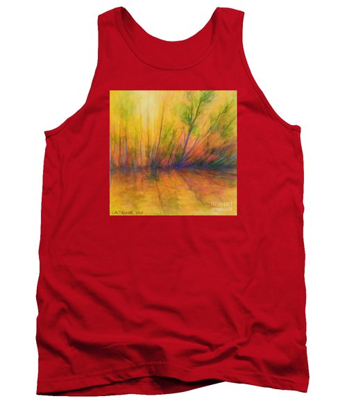 Tank Top featuring the painting Afternoon Glow  by Alison Caltrider