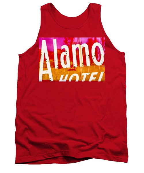 Alamo Hotel Sign Abstract Tank Top