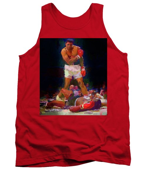 Tank Top featuring the painting Ali by Ted Azriel