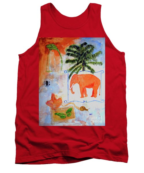 Tank Top featuring the painting All Creatures Great And Small by Sandy McIntire