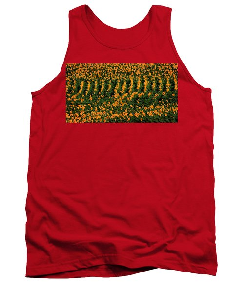 Tank Top featuring the photograph All In A Row by Chris Berry