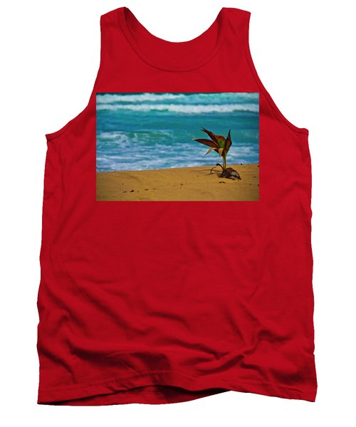 Alone On The Beach Tank Top