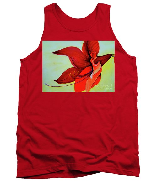 Tank Top featuring the painting Amaryllis Blossom by Rachel Lowry