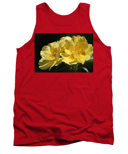 Amber Yellow Country Rose Tank Top