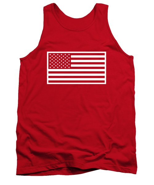 American Flag - Red And White Version Tank Top