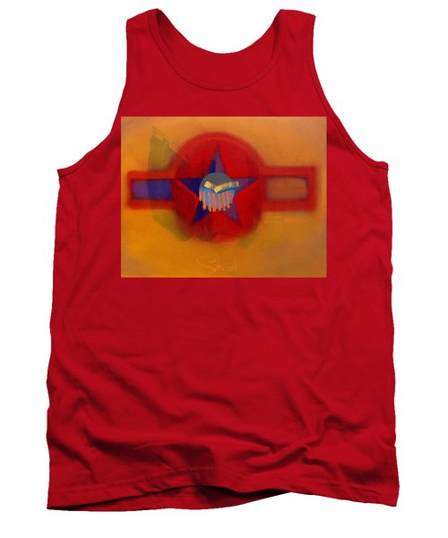 Tank Top featuring the painting American Sub Decal by Charles Stuart