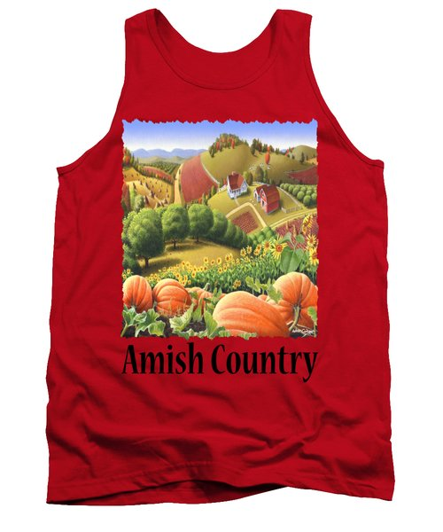 Amish Country - Pumpkin Patch Country Farm Landscape Tank Top