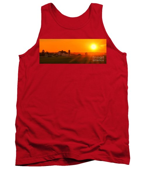 An Amish Sunset Tank Top
