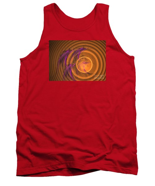 Tank Top featuring the digital art An Echo From The Past - Abstract Art by Sipo Liimatainen