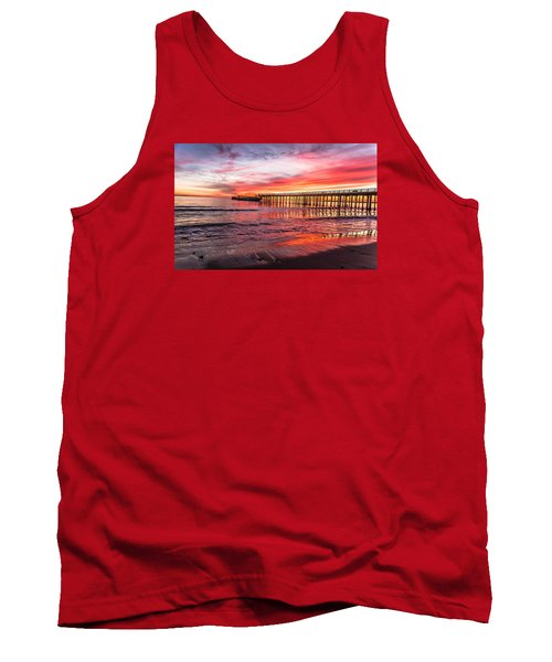 Tank Top featuring the photograph Seacliff Sunset by Lora Lee Chapman