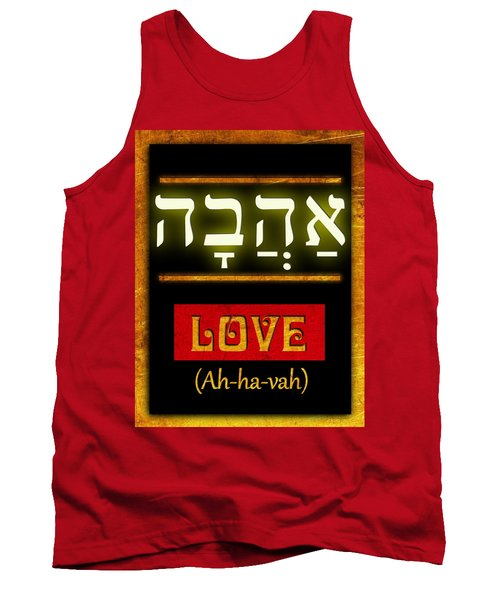Tank Top featuring the digital art Ancient Characters For Love by John Wills