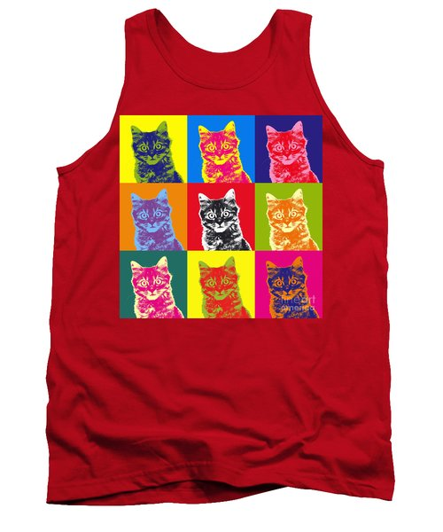 Andy Warhol Cat Tank Top