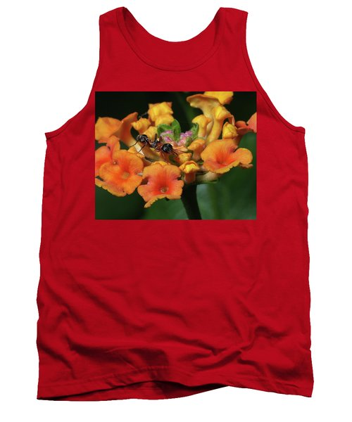 Ant On Plant  Tank Top by Richard Rizzo