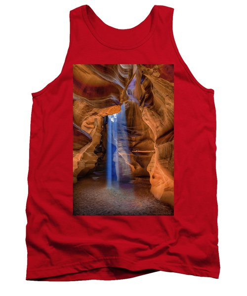 Tank Top featuring the photograph Antelope Canyon Blues by Phil Abrams