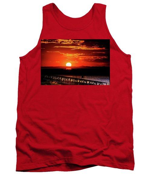 Antelope Island Marina Sunset Tank Top
