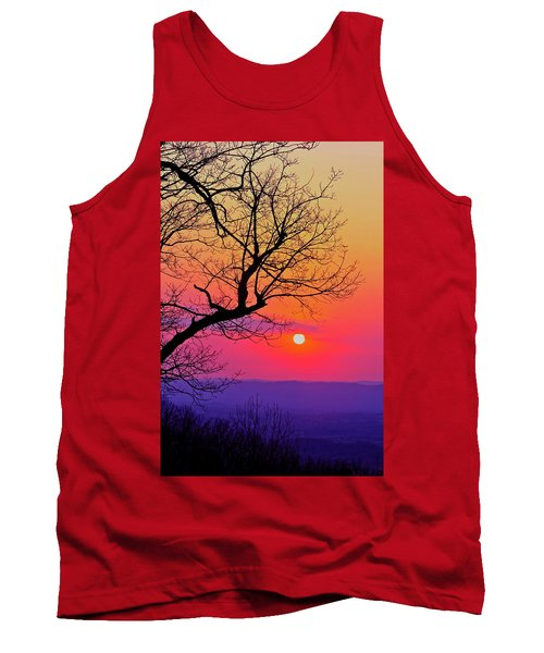 Appalcahian Sunset Tree Silhouette #2 Tank Top