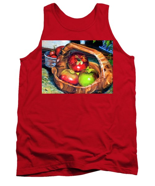 Apples In A Burled Bowl Tank Top