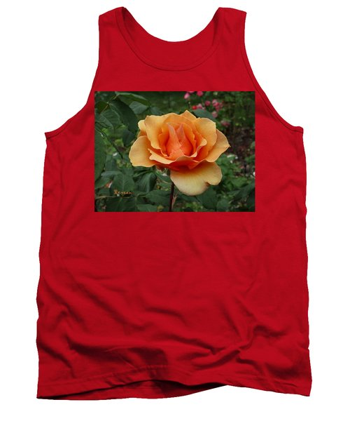 Apricot Rose Tank Top by Sadie Reneau