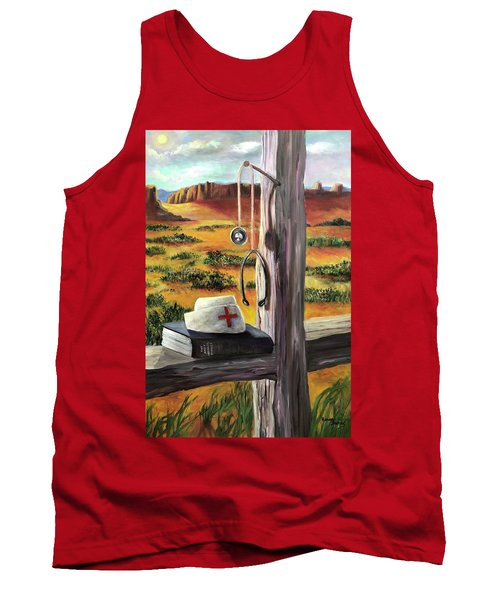 Arizona The Nurse And Hope Tank Top by Randy Burns