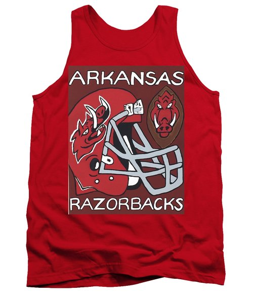 Arkansas Razorbacks Tank Top by Jonathon Hansen