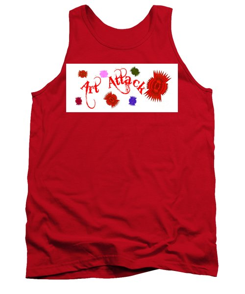 Tank Top featuring the digital art Art Attack  by Marianne NANA Betts