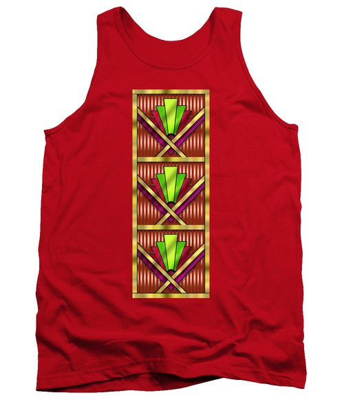 Art Deco 13 Tiles Tank Top by Chuck Staley