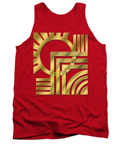 Art Deco 21 Transparent Tank Top by Chuck Staley