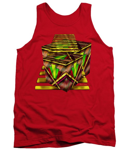 Art Deco Cubes 2 - Transparent Tank Top by Chuck Staley