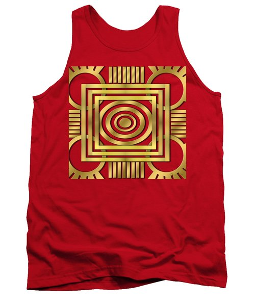 Tank Top featuring the digital art Art Deco 20 by Chuck Staley