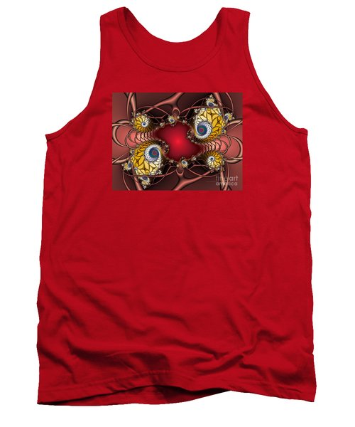 Tank Top featuring the digital art Artdeco by Karin Kuhlmann