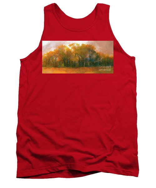 Tank Top featuring the photograph Artistic Fall Colors In The Blue Ridge Ap by Dan Carmichael