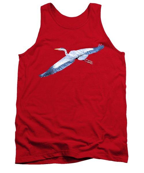 Great Blue Heron Flight Tank Top
