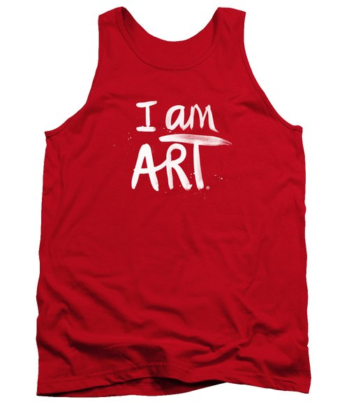 I Am Art- Painted Tank Top by Linda Woods