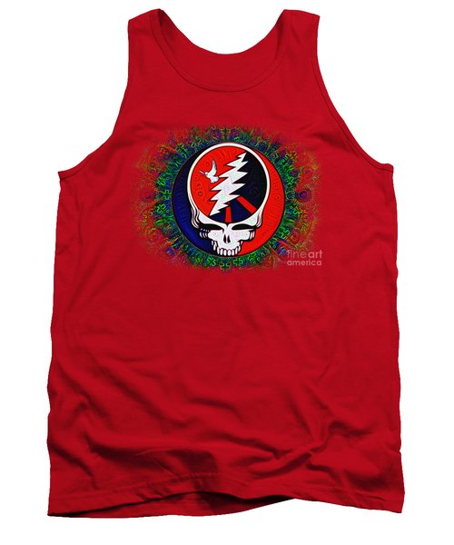 Tank Top featuring the painting Grateful Dead by Bill Cannon