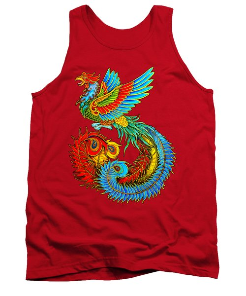 Fenghuang Chinese Phoenix Tank Top by Rebecca Wang