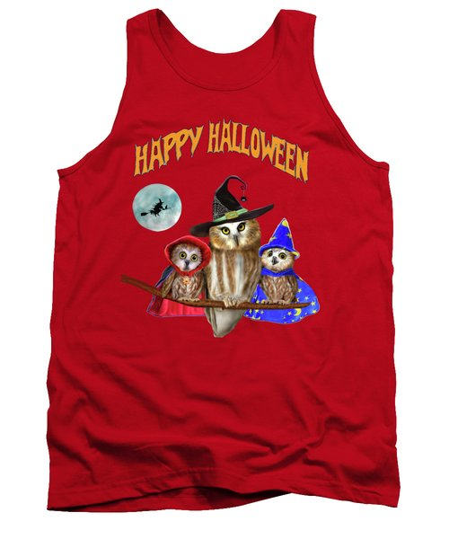 Happy Halloween From Owl Of Us Tank Top