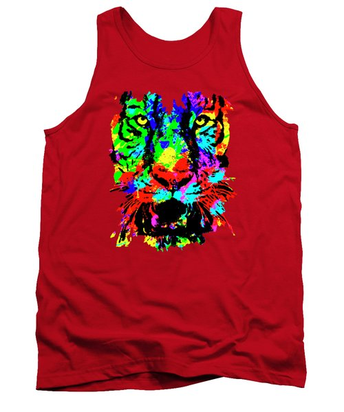 Colored Tiger Tank Top