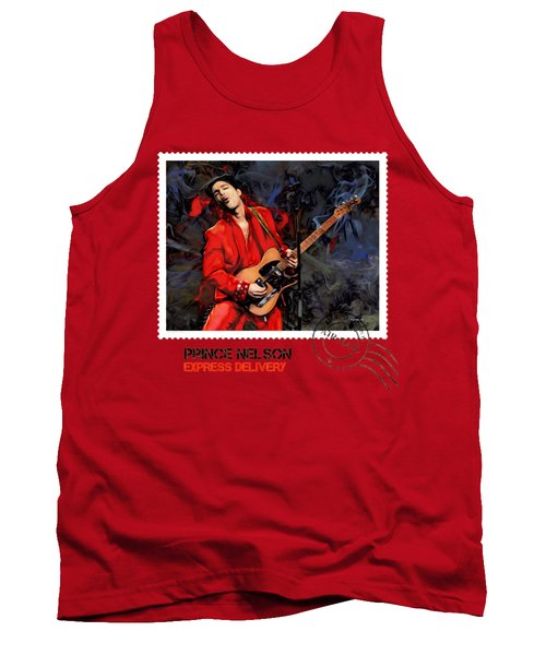 Prince Nelson With Guitar  Tank Top