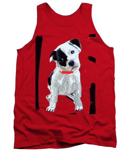 Dog Doggie Red Tank Top