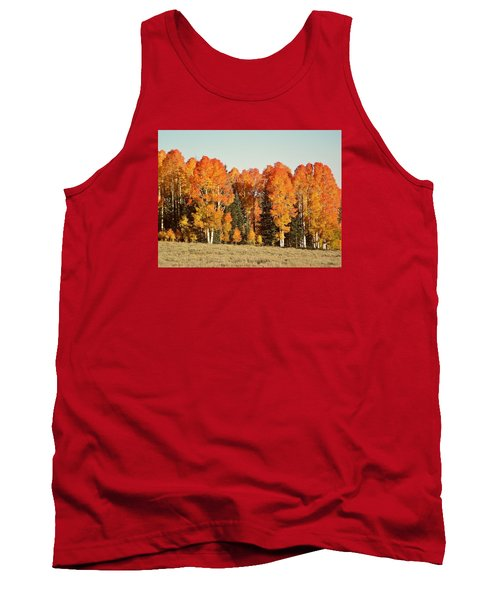Aspen Forest In Autumn Tank Top