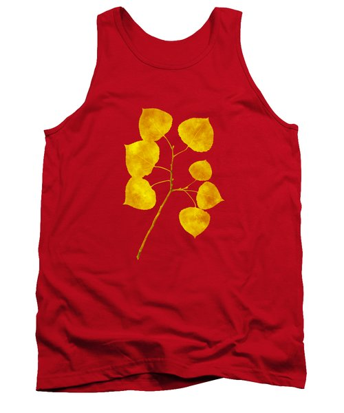 Tank Top featuring the photograph Aspen Tree Leaf Art by Christina Rollo