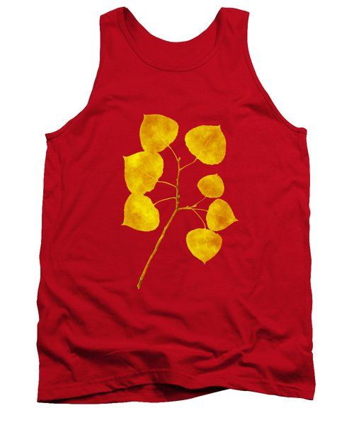 Aspen Tree Leaf Art Tank Top
