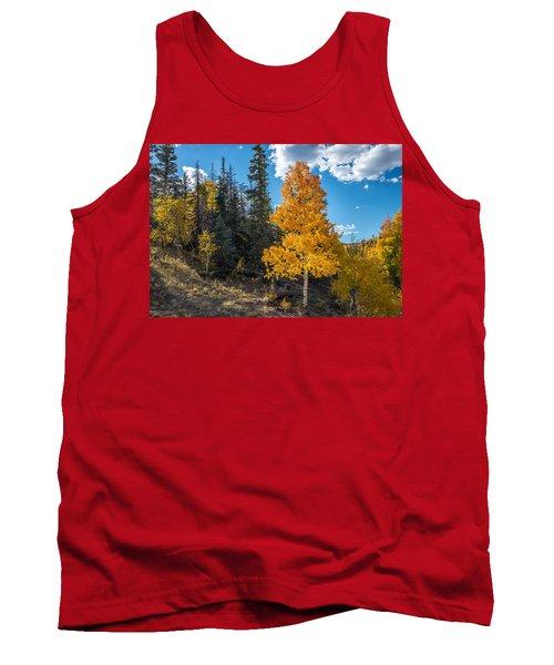Aspen Tree In Fall Colors San Juan Mountains, Colorado. Tank Top by John Brink